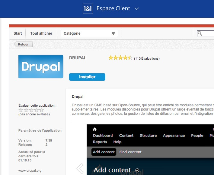1and1 Drupal 7 Outdated