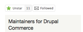Drupal.org star feature